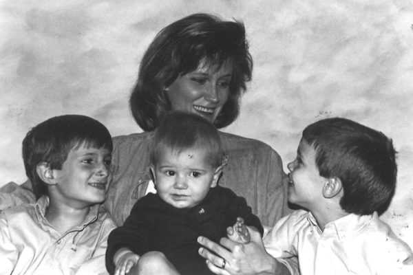 Anne with her young boys